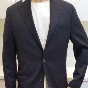 LAUREN wool Jacket 40R Slim Fit  Navy